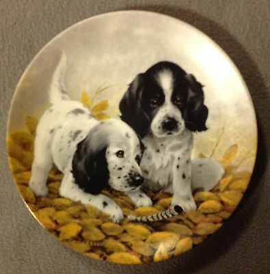 Knowles Fine China -FIELD PUPPIES PLATE COLLECTION -ENGLISH SETTERS -Lynn Kaatz