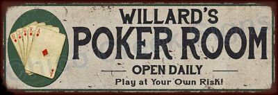 William's Poker Room Game Metal Sign 6x18 Rusty Man Cave Decor 61804197