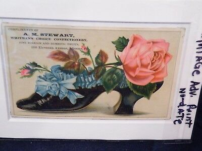 """Vintage  """"whitman's Choice Confectionery""""-Penn. Ad..no Date- With Mat.. (Ls70)"""