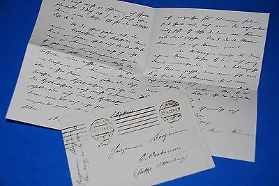 1918 World War, German Captain Field Post Vintage old Letter WWI, Antique yy 29