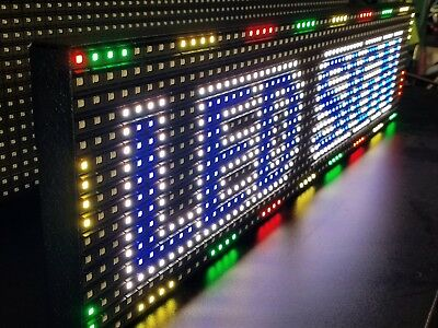 "Full Color 38""x 6.5"" P10 LED Sign Programmable Scrolling Message (MADE USA)"