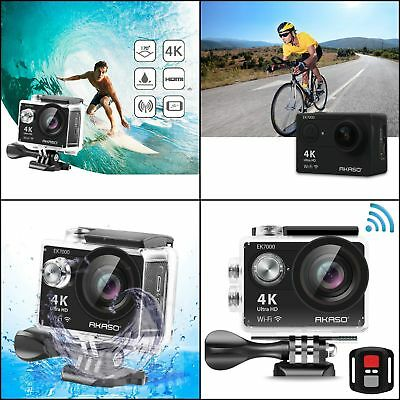 4K Action Camera WIFI Ultra HD Waterproof Sports DV Camcorder 12MP AKASO EK7000