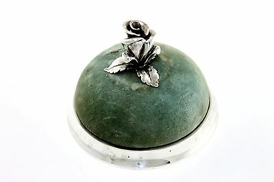 Early Antique RARE Tiffany & Company Makers Sterling Silver Rose Pin Cushion