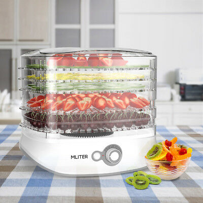 5 Tray Food Dehydrator Fruit Dryer Machine Preserver with Thermostat Control