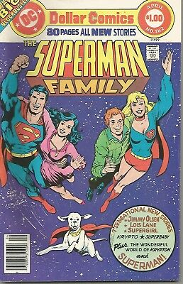 SUPERMAN FAMILY - No. 182 (March / April 1977) ~ features SUPERGIRL