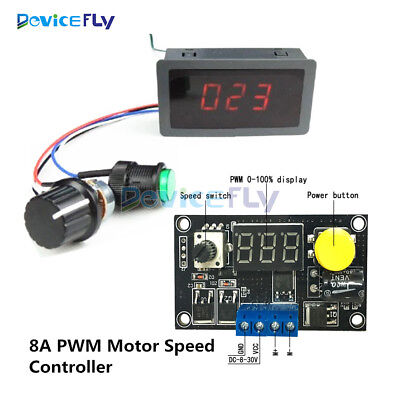 DC6-30V 12V 24V Max 8A 16kHz PWM Digital 3 Bit LED Motor Speed Controller Switch