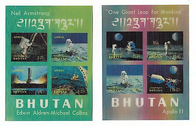 Bhutan Stamps 3D Space Mini Sheets - Apollo 11 & Neil Armstrong Mnh