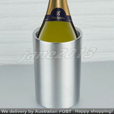 Double Wall Insulated Wine Champagne Cooler Ice Bucket Stainless Steel
