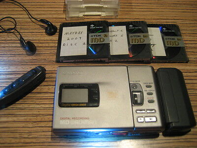 Sony MZ R30 Metall MD Minidisc Player Recorder Walkman (753) für AA Batterie + 3