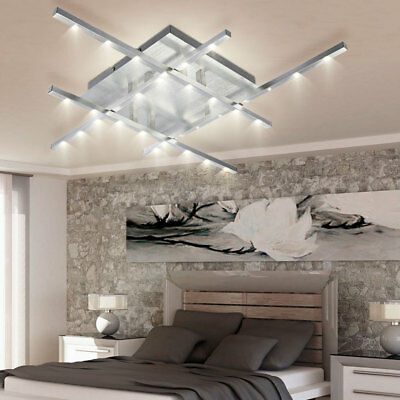 luxus smd led decken leuchte dimmer lampe bluetooth lautsprecher beleuchtung eur 76 50. Black Bedroom Furniture Sets. Home Design Ideas