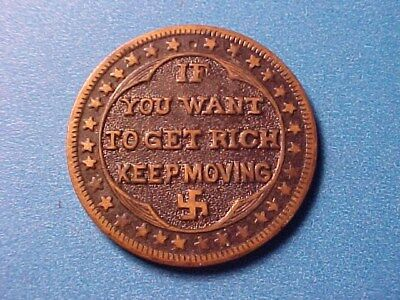 Swastika Luck Token Million Dollars Worth If You Want To Get Rich Keep Moving