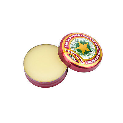 New Golden Star Balm Ointment for Headache Dizziness Insect Stings Heat 4g WF