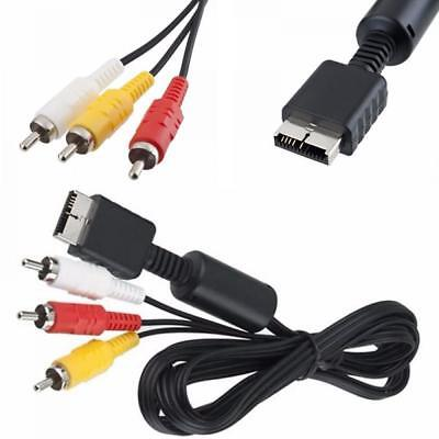 1.5m RCA AV Audio Video Cable Cord For Sony PlayStation 2 3 PS2 PS3 Black Useful