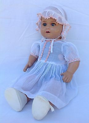Antique Vintage Old Australian Composition  Hush A Bye Doll In Vg Condition