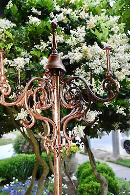 Vintage Victorian Brass Freestanding Coat Hat Rack Griffin Pick Up No Ship 6'