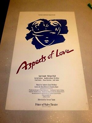 Aspects Of Love 1988 Vintage Theatre Poster - Prince Of Wales Theatre