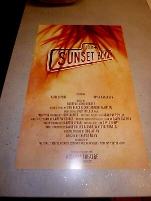 Sunset Boulevard Theatre Poster 1992 - Adelphi Theatre By Dewynters
