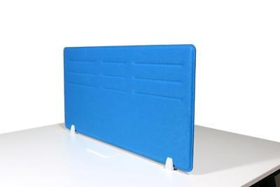 Acoustic Privacy Desk Screen Divider Pressed Panel 580mmH x 1180mmW COLOUR-BLUE