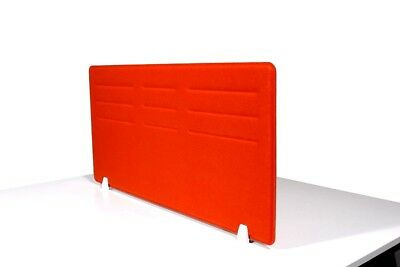 Acoustic Privacy Desk Screen Divider Panel 580mmH x 1180mmW COLOUR-ORANGE