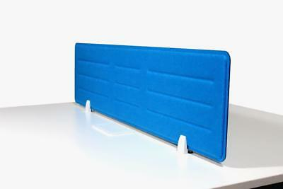 Acoustic Privacy Desk Screen Divider Pressed Panel 340mmH x 1380mmW COLOUR-BLUE