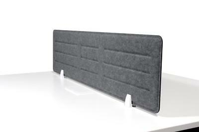 Acoustic Privacy Desk Screen Divider Pressed Panel 340mmH x 1380mmW COLOUR-GREY