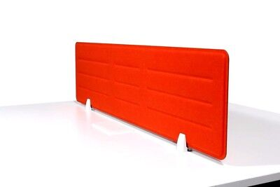 Acoustic Privacy Desk Screen Divider Pressed Panel 340mmH x 1380mmWCOLOUR-ORANGE