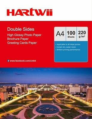 40 Sheets A4 220Gsm Double Sided High Gloss Photo Paper Inkjet Paper Printing UK