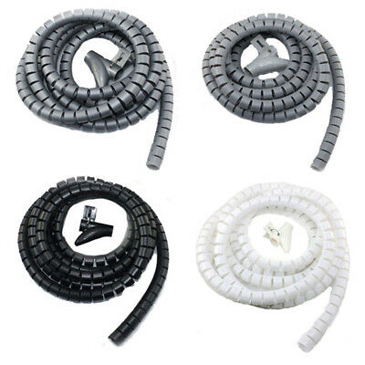 8/10/16/22/28mm Flexible Spiral Tube Cable Wire Wrap Computer Manage Cord Tube