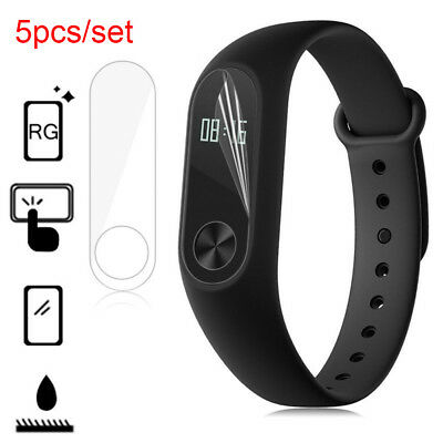 5Pcs Xiaomi Mi Band 2 Smart Wristband Screen Protector HD Anti-Scratch Cover New