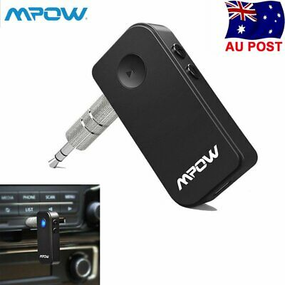 Mpow Wireless Bluetooth 4.1 Receiver Car Kit 3.5mm Stereo Audio Music Adapter AU