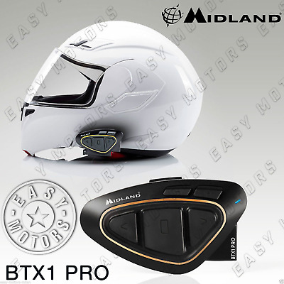 Interphone Interfono Midland Btx1 Pro Moto Bluetooth X Tutti I Caschi Jet Integ.