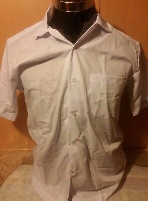 Sonny Boy Children's/Young Adults Short Sleeve White/light blue Shirt Size LARGE