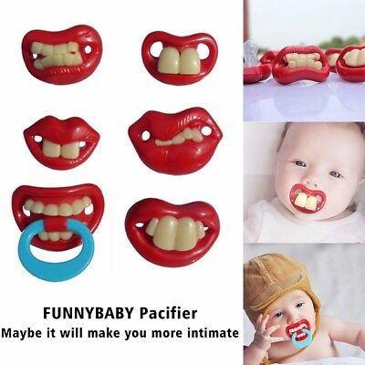 NEW Funny Dummy Dummies Pacifier Novelty Teeth Baby Child Soother Uk Free P&P
