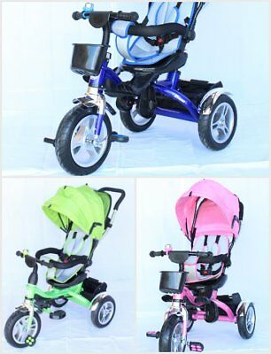 Kids Tricycle JHI Dreams Children's Trike WIth Easy Load Seat and Parent Handle
