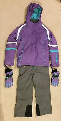 Kids Unisex Snow/ski Outfit - Size 8 - Including Gloves