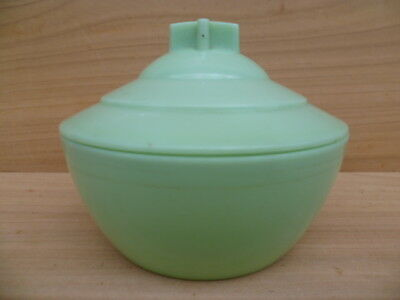 Vintage Old Green Retro Kitchen Canister, Old Retro Container (G589)