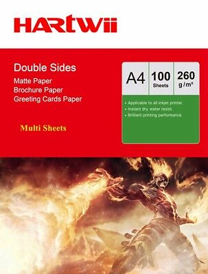 Hartwii 1000Sheets A4 260Gsm High Glossy Photo Paper Inkjet Paper Printer UK Ink