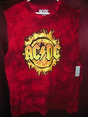 NEW Men's AC/DC ACDC Sleeveless Muscle Shirt / Tank Top XL / X-LARGE 46/48  #O8
