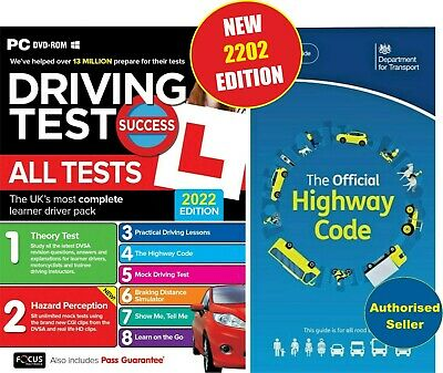 2019 Driving Theory Test & Hazard test CD Rom DVD Highway Code Book Car,llL