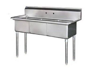 3 Compartment Sink, (18x24x14), 304 S/S Top, NSF, Arc Stainless S3-1824