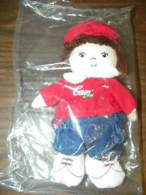 """NEW Vintage 8"""" CAMPBELL'S SOUP KIDS Doll / Beanie Baby Doll Campbells Soup #X12"""