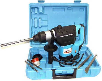 """1-1/2"""" Electric Rotary Hammer Drill With Bits Sds Plus Roto Tool Variable Speed"""