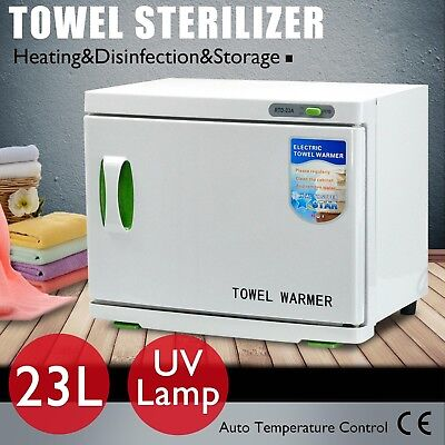 Towel Warmer UV Sterilizer Cabinet Disinfection Heater Spa Beauty Salon 23L