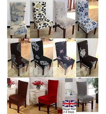 Removable Elastic Stretch Slipcovers Short Dining Room Chair Seat Cover Décor