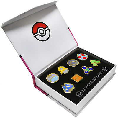 Pokemon Gym Badges Pin Gent 4 Halloween Cosplay Accessory Collection Set of 8pcs