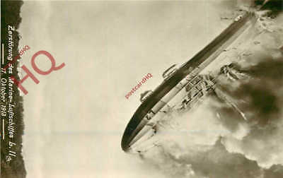 Picture Postcard:-Airship, Marine-Luftschiffes L.Ii, 1913, Disaster