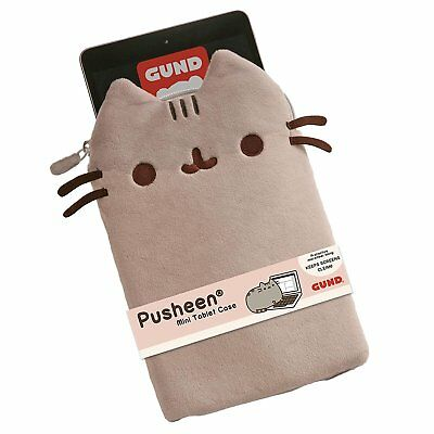 NEW OFFICIAL GUND Pusheen Plush Soft iPad Tablet Case Cover Pouch Sleeve 4053809