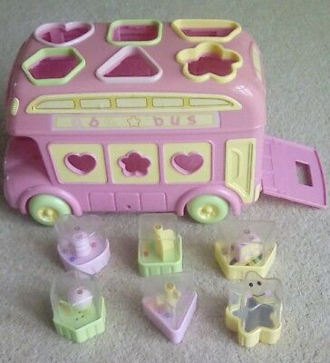 Early learning centre pink bus shape sorter