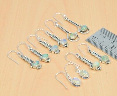 Wholesale 5Pair 925Solid Sterling Silver Natural Ethiopian Opal Earring Lot..
