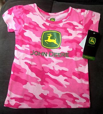 Gorgeous new toddlers John Deere pink camo tees - 2T or 4T